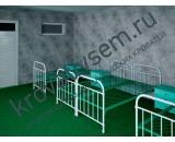 Металлическая кровать армейская