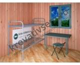 Металлическая кровать двухъярусная CВ2+