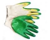 Перчатки зеленые.два слоя латекса